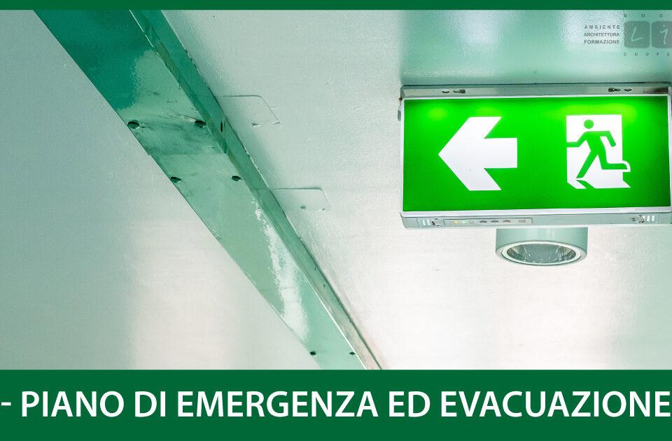 PEE - Piano di Emergenza ed Evacuazione